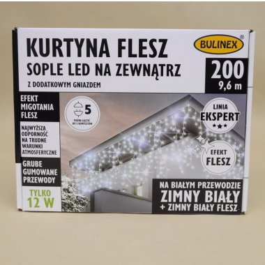 75-694 LAMPKI SOPLE 200LED FLESZ+G 10M B.ZIMN IP44