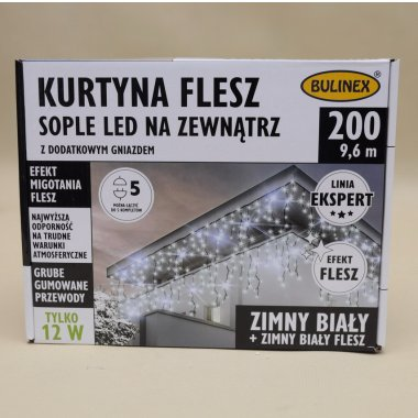 75-692 LAMPKI SOPLE 200LED FLESZ+G 10M B.ZIMN IP44