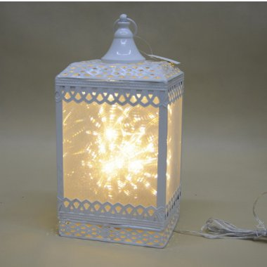 TG37361 LAMPION  8 LED METAL KREM WYS.33*16*13
