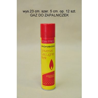 GAZ DO ZAPALNICZEK 300 ML.